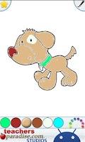 Screenshot of Kids Pets Coloring Book Game