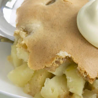 Apple and Vanilla Sponge Pudding