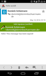 OpenKeychain: Easy PGP – Miniaturansicht des Screenshots