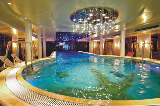 Uniworld-Century-Legend-and-Paragon-swimming-pool - Head to the luxurious indoor swimming pool for the ideal place to relax and unwind during your Uniworld cruise to explore the Yangtze River.