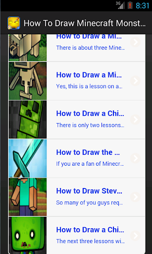 How To Draw Minecraft Monsters