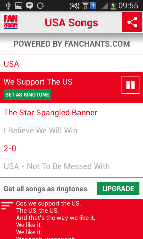 USA! USA! World Cup 2014 Songs- screenshot