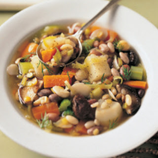 Twelve-Bean Stew with Horseradish Cream