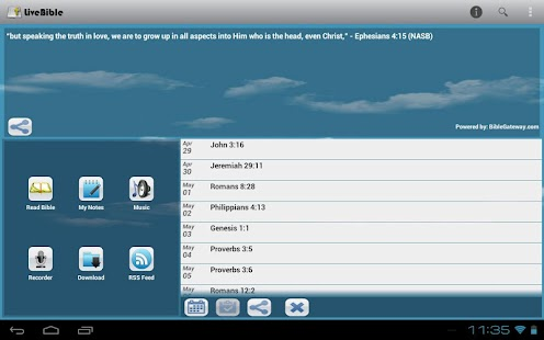 LiveBible - free Bible - screenshot thumbnail