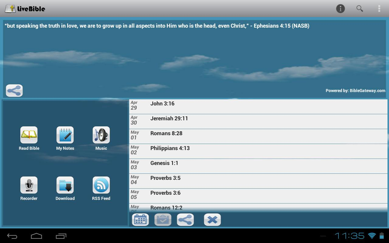 LiveBible - free Bible - screenshot