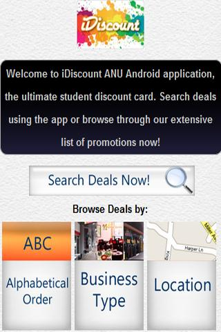iDiscount ANU - screenshot