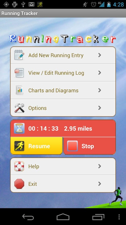 Running Tracker - screenshot