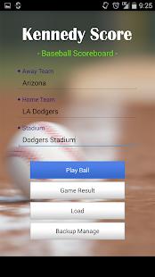 Kennedy Score - Baseball Score