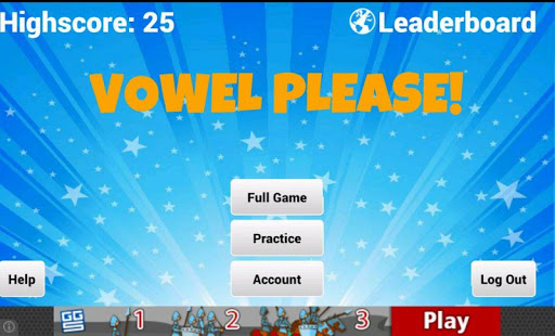 Vowel Please - Countdown game