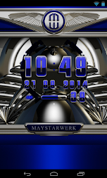 Digi Clock Widget Blue Saphir APK screenshot thumbnail 4