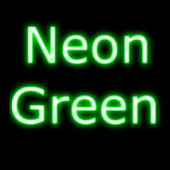Neon Green GO SMS Theme