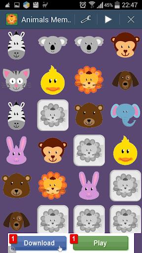 Cute Animals Memory Game