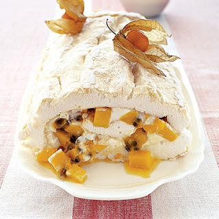 Mango Passion Fruit Roulade.