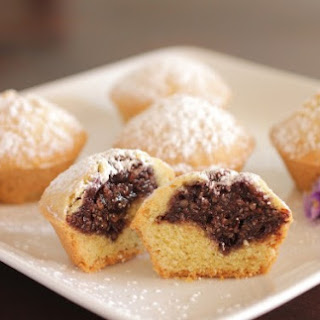 Italian Bocconotti Cookies with Chocolate, Jam and Nut filling.