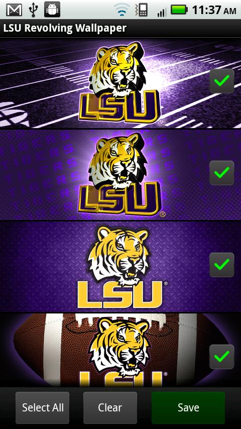 LSU Revolving Wallpaper- screenshot