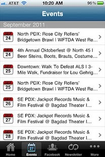 PDX Pipeline: Portland Events- screenshot thumbnail
