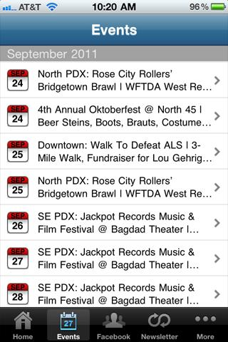 PDX Pipeline: Portland Events- screenshot