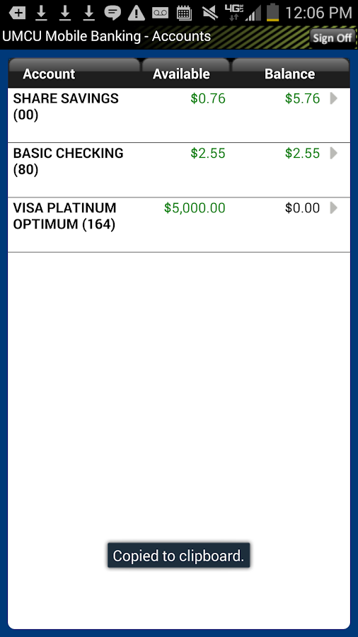 UMCU Mobile Banking - screenshot