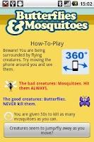Screenshot of Butterflies and Mosquitoes