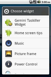 Gemini Taskiller Widget- screenshot thumbnail