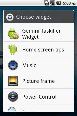 Gemini Taskiller Widget - screenshot