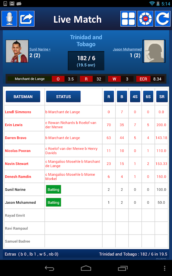 I.P.L Twenty 20 2014 - screenshot