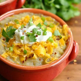 Crock-pot Mexican Baked Potato Soup.