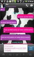 Screenshot of GO SMS - Wild Animal Print