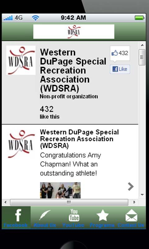 WDSRA App - screenshot