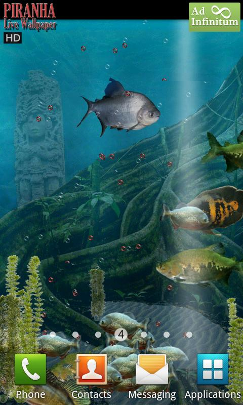 Piranha Live Wallpaper HD - screenshot