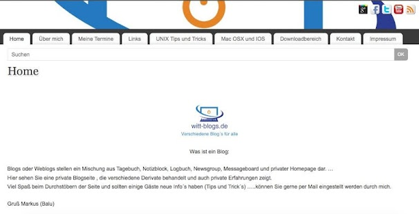 Blogseite von Witt- screenshot thumbnail