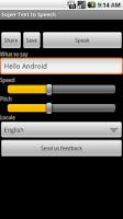 Screenshot of Super Text To Speech Free