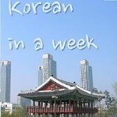 Korean in a week (free)