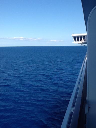 MSC Divina at sea in the Caribbean.