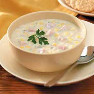 Slow-Cooked Corn Chowder.