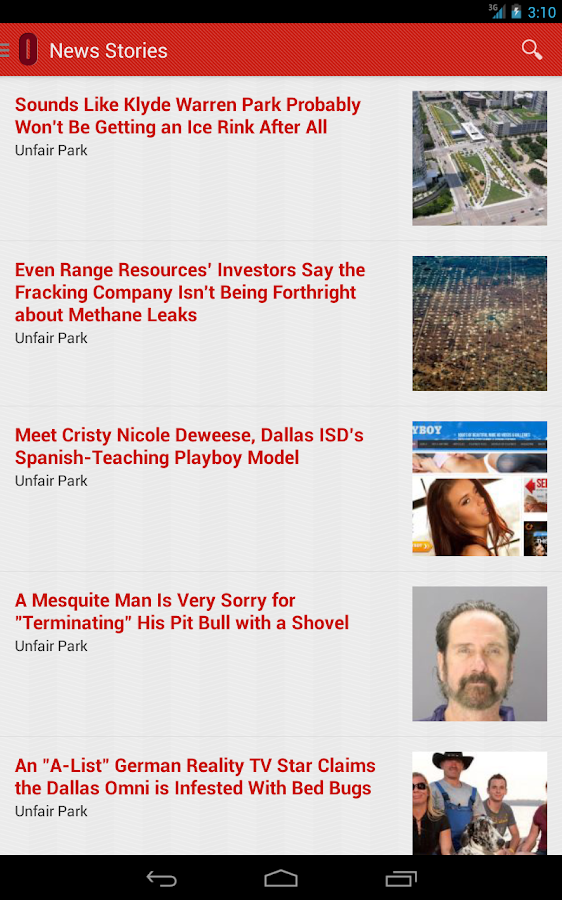 Dallas Observer- screenshot