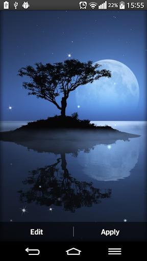 月光下的动态壁纸