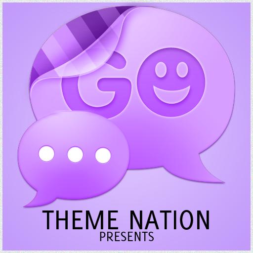 GO SMS Theme Elite Purple LOGO-APP點子