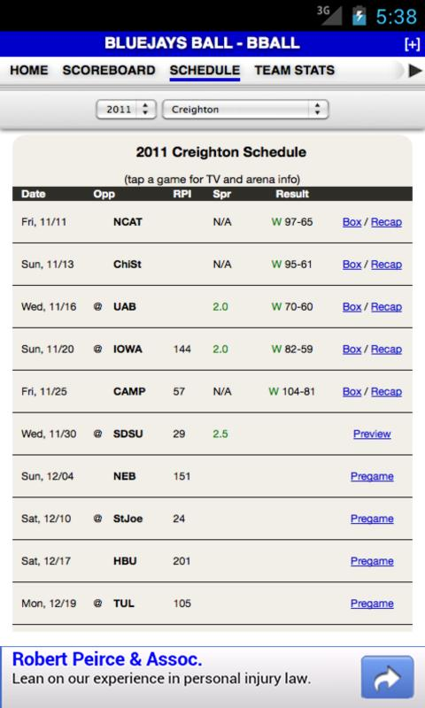 Creighton Basketball - screenshot