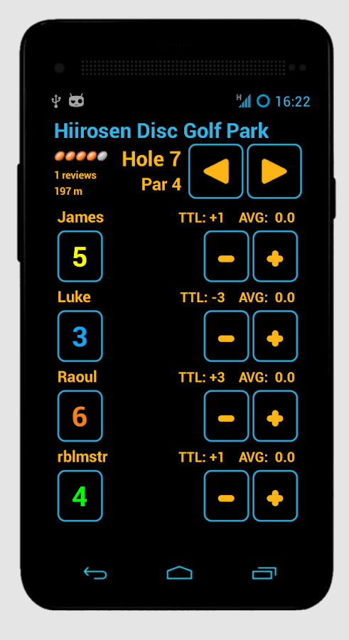Disc Caddy - Disc Golf app - screenshot