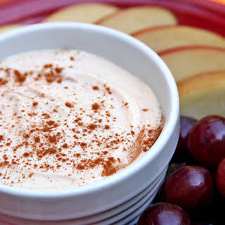 Creamy Peanut Butter Dip and Fruit Slices.