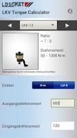 Screenshot of LKV Torque Calculator
