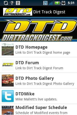 Dirt Track Digest - screenshot