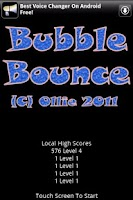 Screenshot of Bubble Bounce