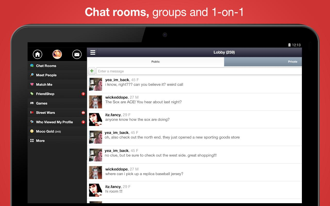 Chat, Meet People - Moco+ - screenshot