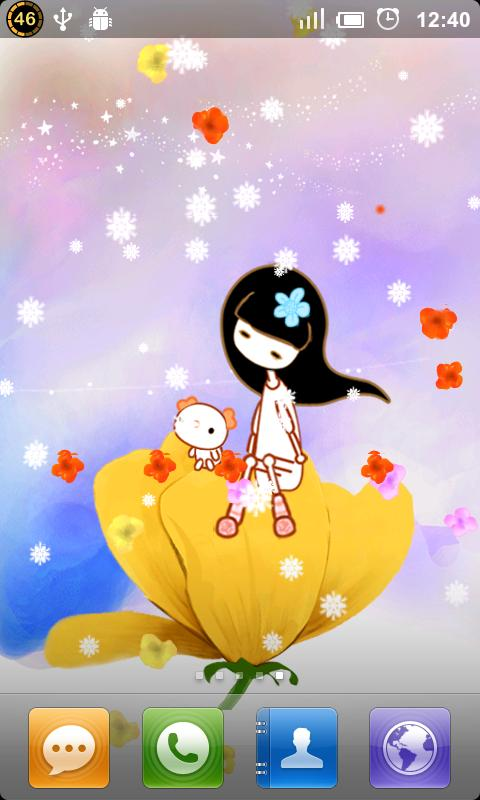 A Flower Cradle Live Wallpaper - screenshot
