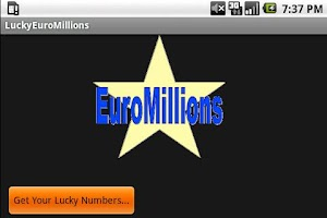 Screenshot of Lucky Numbers (Euro Mills)