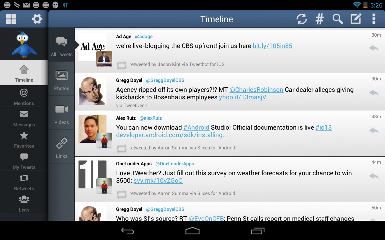 TweetCaster Pro for Twitter - screenshot
