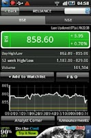 Screenshot of Stock Watch: BSE / NSE