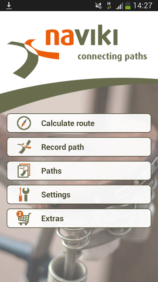 Naviki – the bicycle satnav - screenshot
